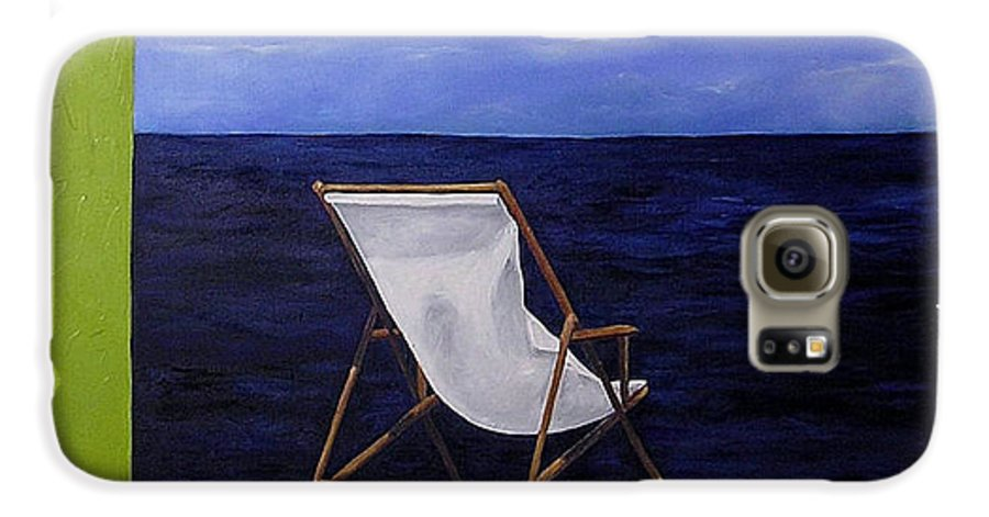 Seascape Galaxy S6 Case featuring the painting Lazy Days by Trisha Lambi