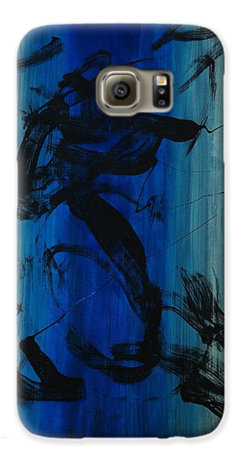 Acrylic Galaxy S6 Case featuring the painting Leap Of Love by Lauren Luna