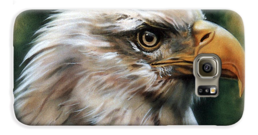 Southwest Art Galaxy S6 Case featuring the painting Leather Eagle by J W Baker