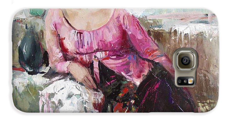 Ignatenko Galaxy S6 Case featuring the painting Lera by Sergey Ignatenko