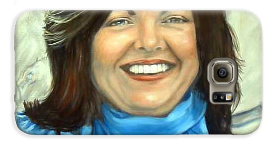 Galaxy S6 Case featuring the painting Leslie Eliason by Anne Kushnick