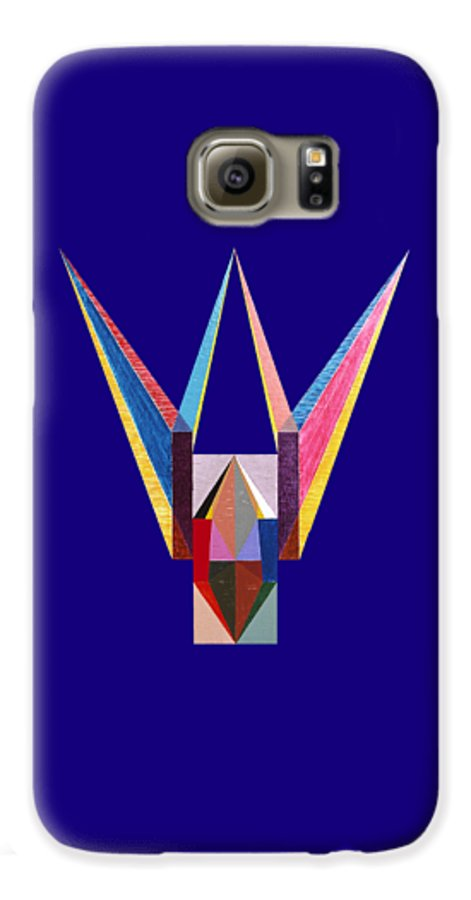 Painting Galaxy S6 Case featuring the painting Liaison by Michael Bellon