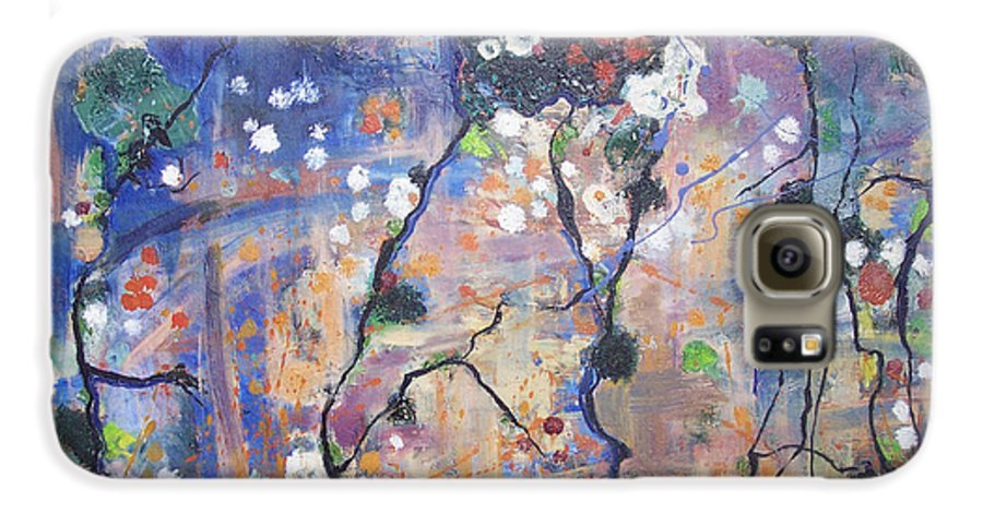 Lichen Paintings Galaxy S6 Case featuring the painting Lichen by Seon-Jeong Kim