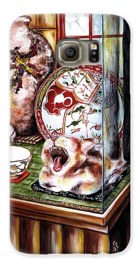 Cat Galaxy S6 Case featuring the painting Life Is Beautiful by Hiroko Sakai