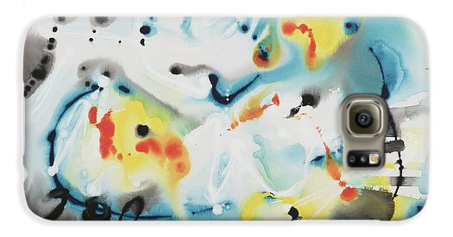 Life Galaxy S6 Case featuring the painting Life by Nadine Rippelmeyer
