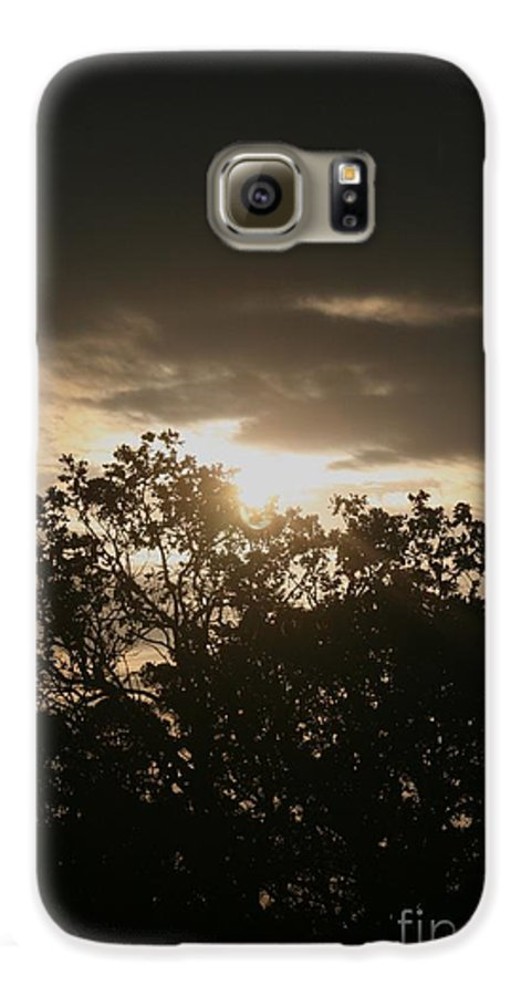 Light Galaxy S6 Case featuring the photograph Light Chasing Away The Darkness by Nadine Rippelmeyer