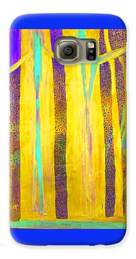 Galaxy S6 Case featuring the painting Light In The Forest by Jarle Rosseland