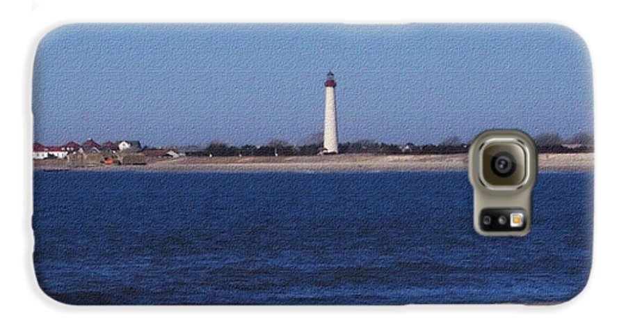 Lighthouse Galaxy S6 Case featuring the photograph Lighthouse At The Point by Pharris Art