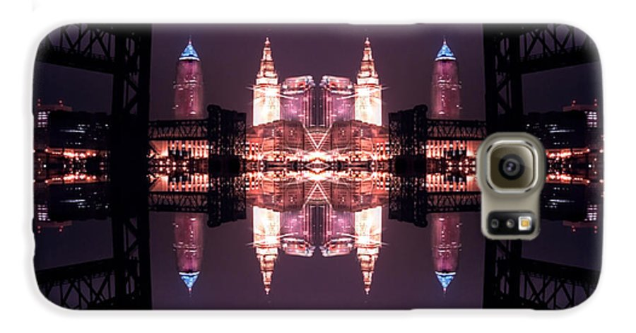 Cleveland Galaxy S6 Case featuring the photograph Lights Buildings And Bridges by Kenneth Krolikowski