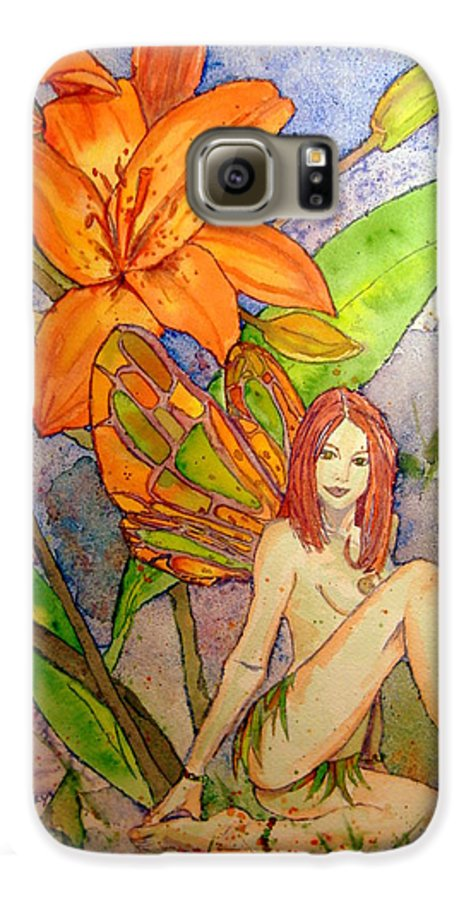 Faerie Galaxy S6 Case featuring the painting Lillian Keeper Of Both Wealth And Pride - Watercolor by Donna Hanna