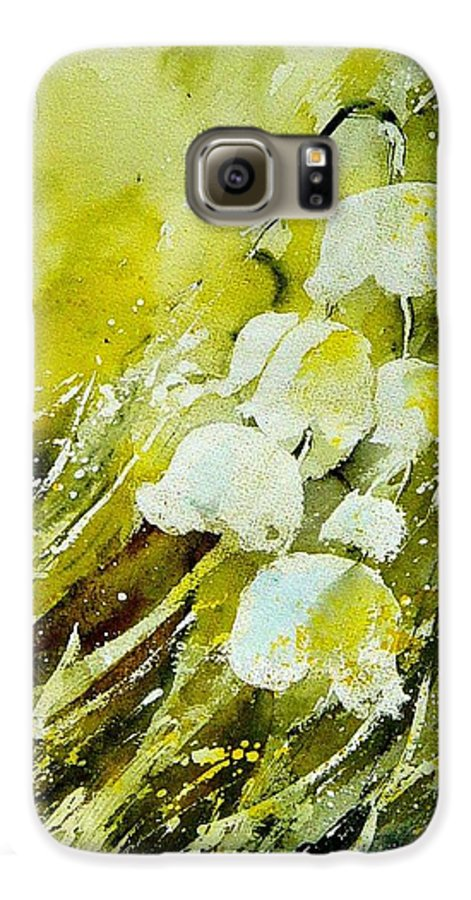 Flowers Galaxy S6 Case featuring the painting Lilly Of The Valley by Pol Ledent
