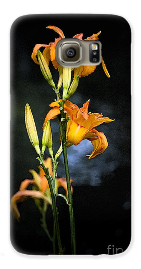 Lily Monet Garden Flora Galaxy S6 Case featuring the photograph Lily In Monets Garden by Sheila Smart Fine Art Photography