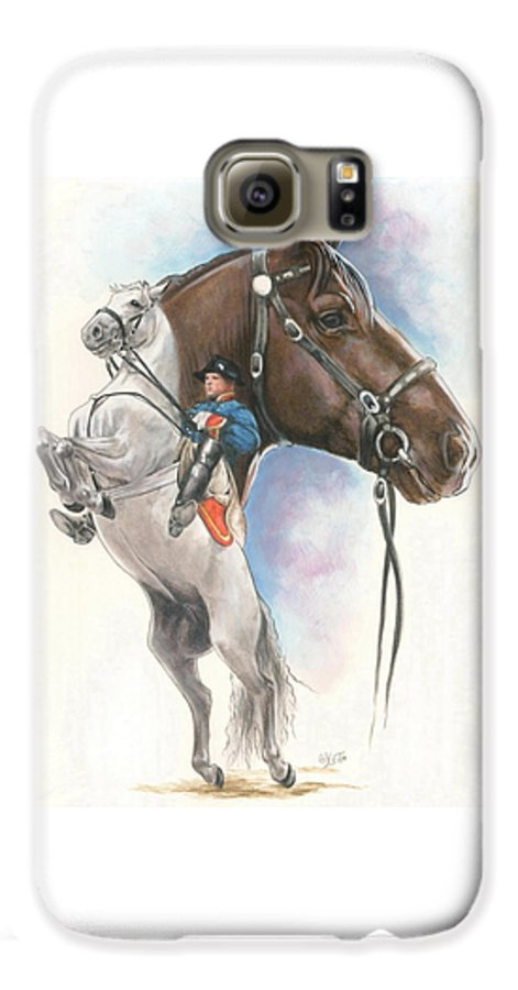 Equus Galaxy S6 Case featuring the mixed media Lippizaner by Barbara Keith