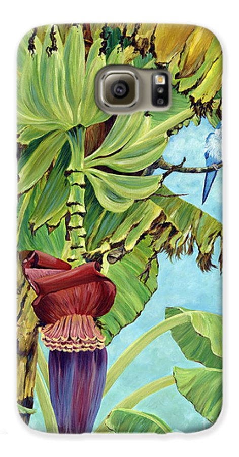 Tropical Galaxy S6 Case featuring the painting Little Blue Quaker by Danielle Perry