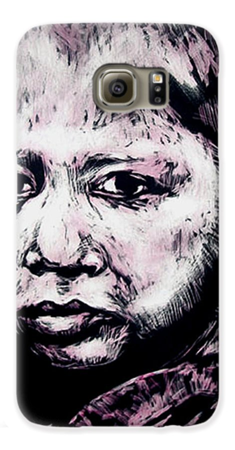 Galaxy S6 Case featuring the mixed media Little Rosita by Chester Elmore