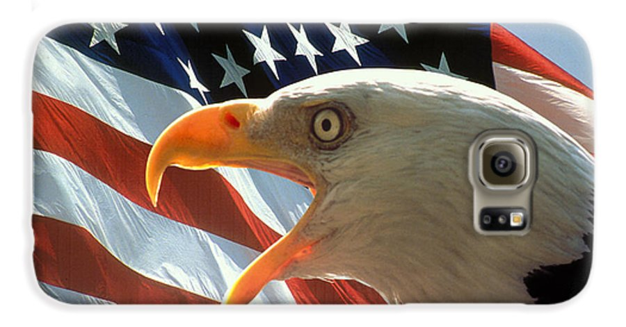 Eagle Galaxy S6 Case featuring the photograph Live Free Or Die by Carl Purcell