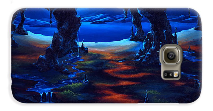 Textured Painting Galaxy S6 Case featuring the painting Living Among Shadows by Jennifer McDuffie