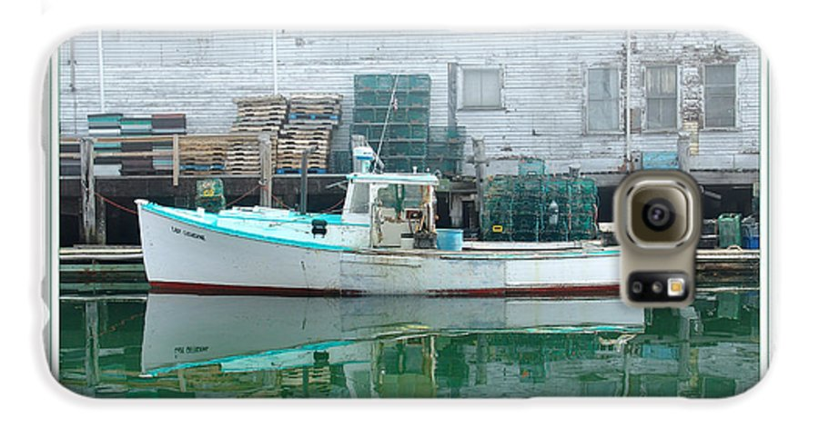 Landscape Galaxy S6 Case featuring the photograph Lobster Boat by Peter Muzyka