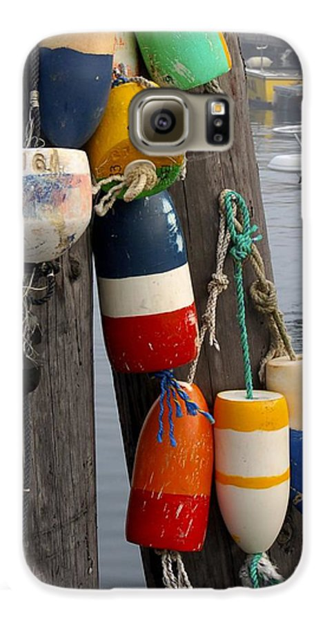 Lobster Galaxy S6 Case featuring the photograph Lobster Buoy At Water Taxi Pier by Faith Harron Boudreau