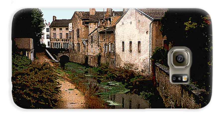 France Galaxy S6 Case featuring the photograph Loire Valley Village Scene by Nancy Mueller