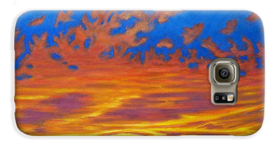 Landscape Galaxy S6 Case featuring the painting Looking To The Southwest by Brian Commerford
