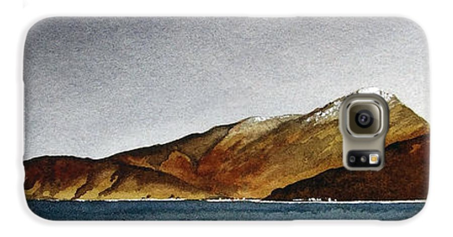 Seascape Galaxy S6 Case featuring the painting Looking Towards Arran From Skipness by Paul Dene Marlor