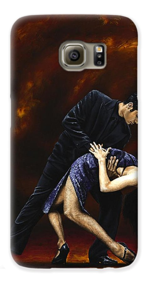 Tango Galaxy S6 Case featuring the painting Lost In Tango by Richard Young