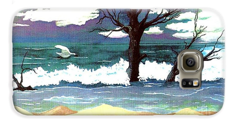 Original Watercolor Painting Galaxy S6 Case featuring the painting Lost Swan by Patricia Griffin Brett