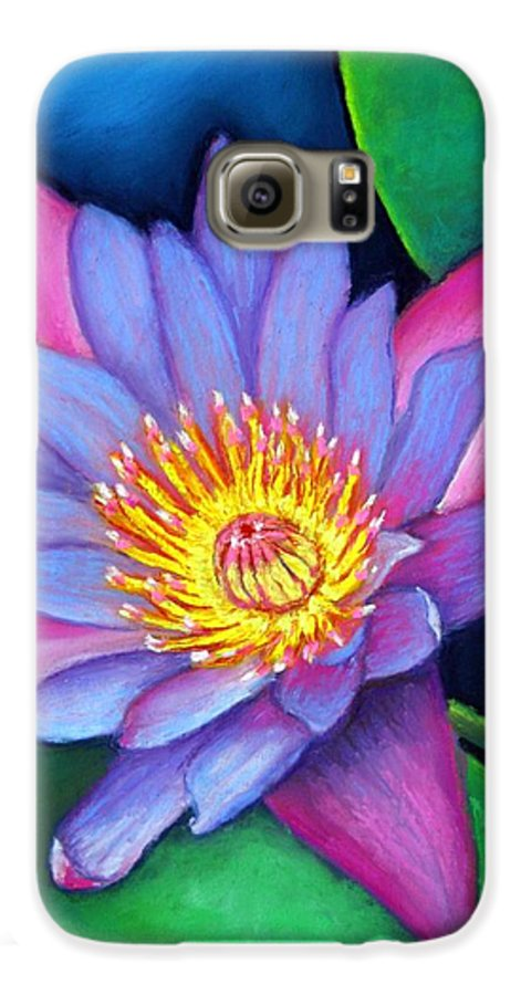 Flower Galaxy S6 Case featuring the painting Lotus Divine by Minaz Jantz