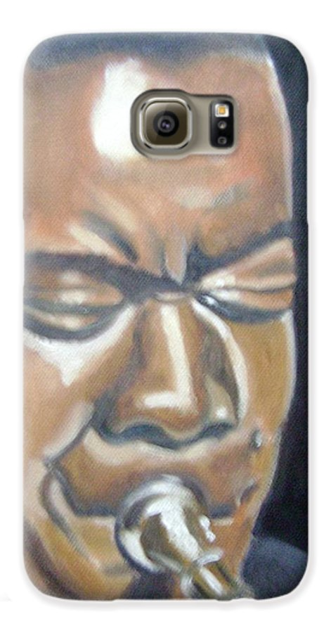 Louis Armstrong Galaxy S6 Case featuring the painting Louis Armstrong by Toni Berry
