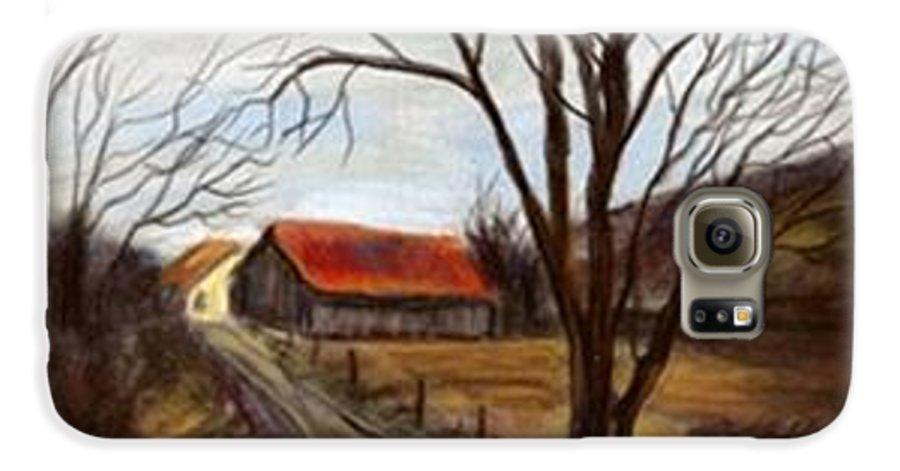 Barn Galaxy S6 Case featuring the painting Louisa Kentucky Barn by Gail Kirtz