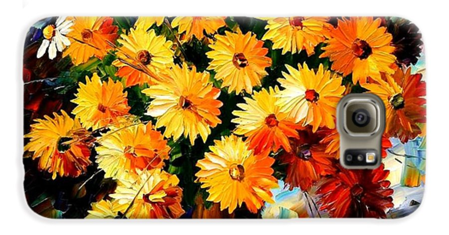 Flowers Galaxy S6 Case featuring the painting Love Irradiation by Leonid Afremov
