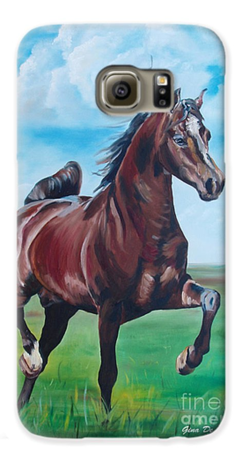 Horse Galaxy S6 Case featuring the painting Lovely by Gina De Gorna
