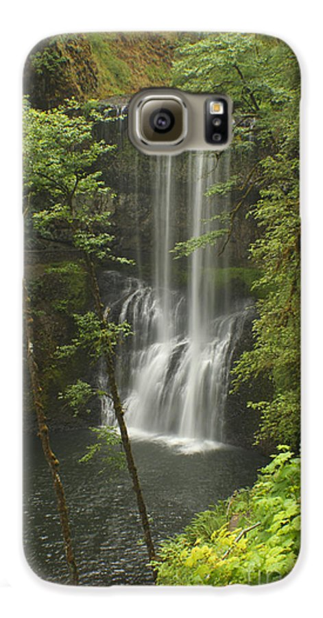 Silver Falls Galaxy S6 Case featuring the photograph Lower South Falls by Idaho Scenic Images Linda Lantzy