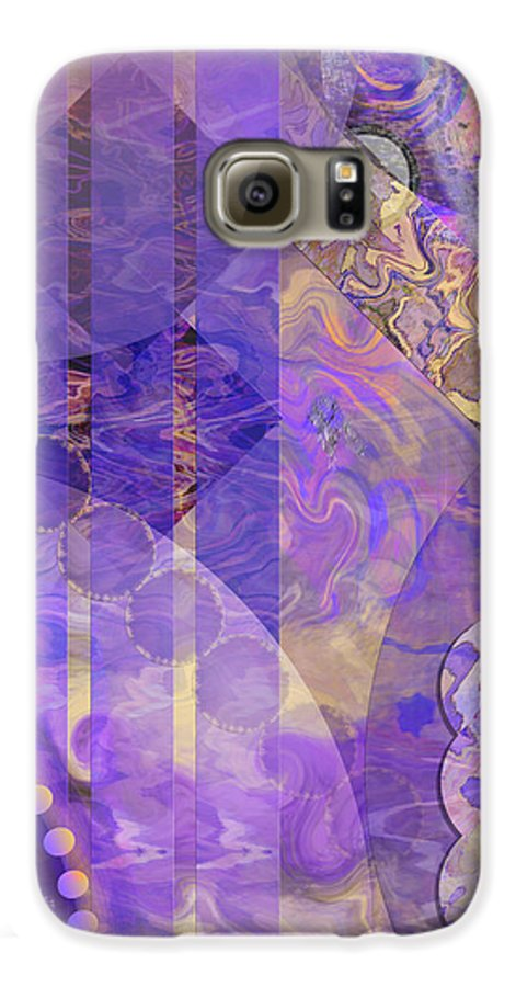 Lunar Impressions 2 Galaxy S6 Case featuring the digital art Lunar Impressions 2 by John Beck