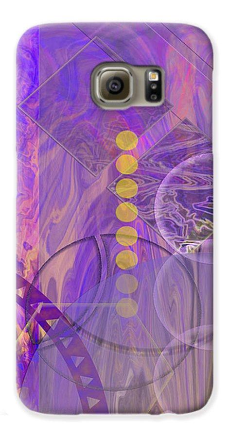 Lunar Impressions 3 Galaxy S6 Case featuring the digital art Lunar Impressions 3 by John Beck