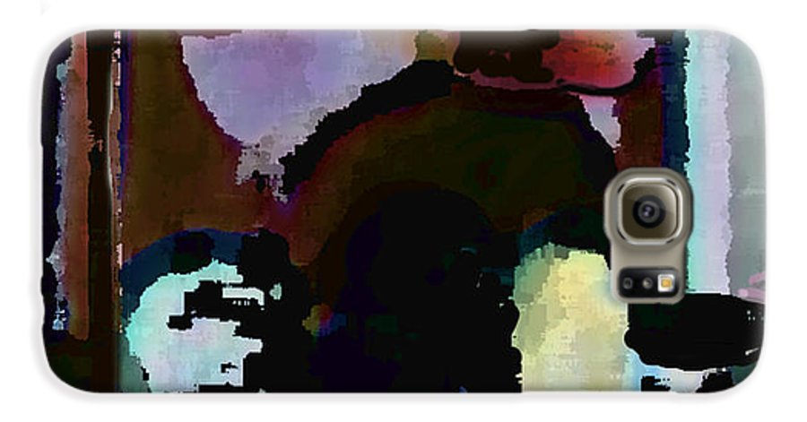 Abstract Expressionism Galaxy S6 Case featuring the painting Lunch Counter by Steve Karol
