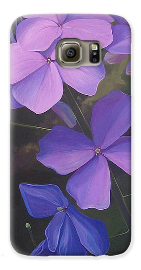 Closeup Of Colorado Wildflower Near Durango Galaxy S6 Case featuring the painting Lush Life by Hunter Jay