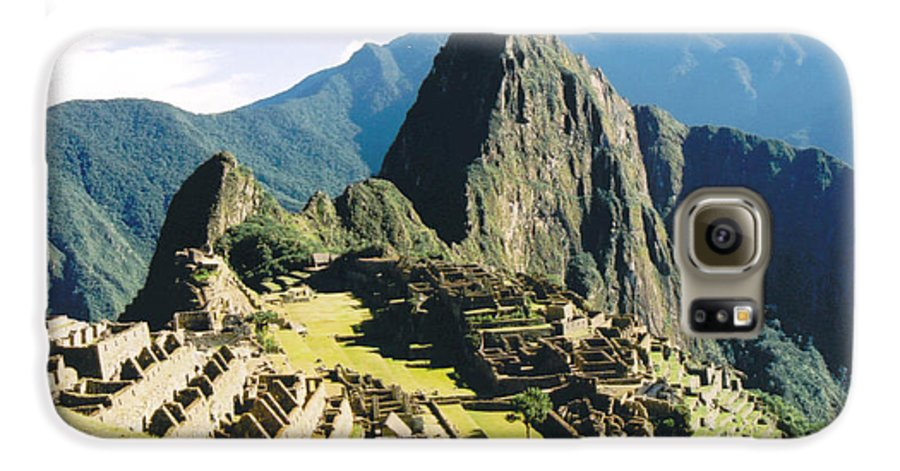 Peru Galaxy S6 Case featuring the photograph Machu Picchu by Kathy Schumann