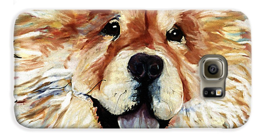 Chow Chow Galaxy S6 Case featuring the pastel Madame Chu Cho by Pat Saunders-White