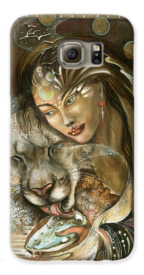 Wildlife Galaxy S6 Case featuring the painting Madonna by Blaze Warrender