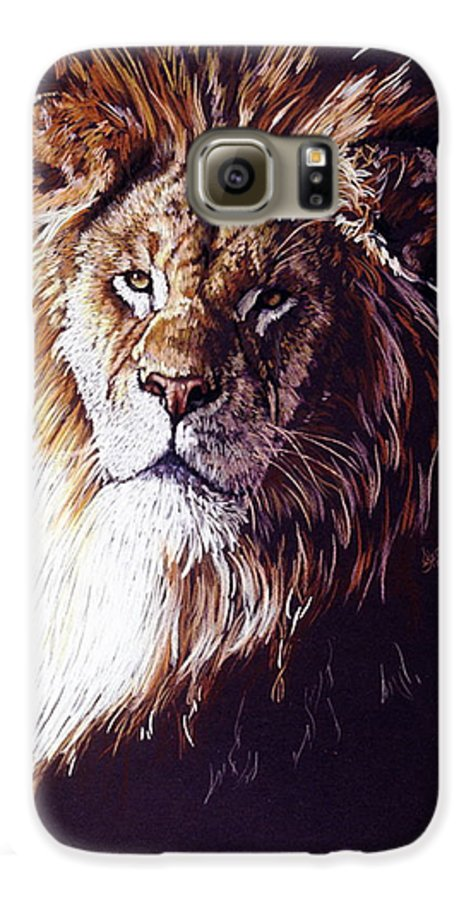 Lion Galaxy S6 Case featuring the drawing Maestro by Barbara Keith
