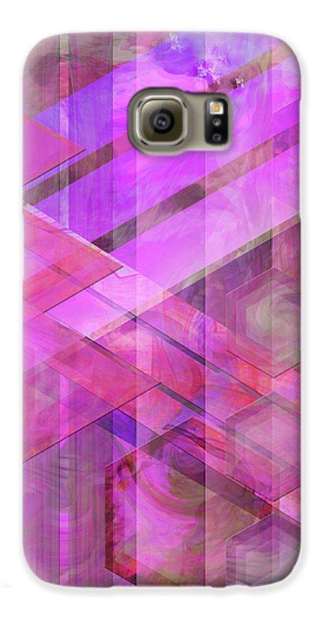 Magenta Haze Galaxy S6 Case featuring the digital art Magenta Haze by John Beck