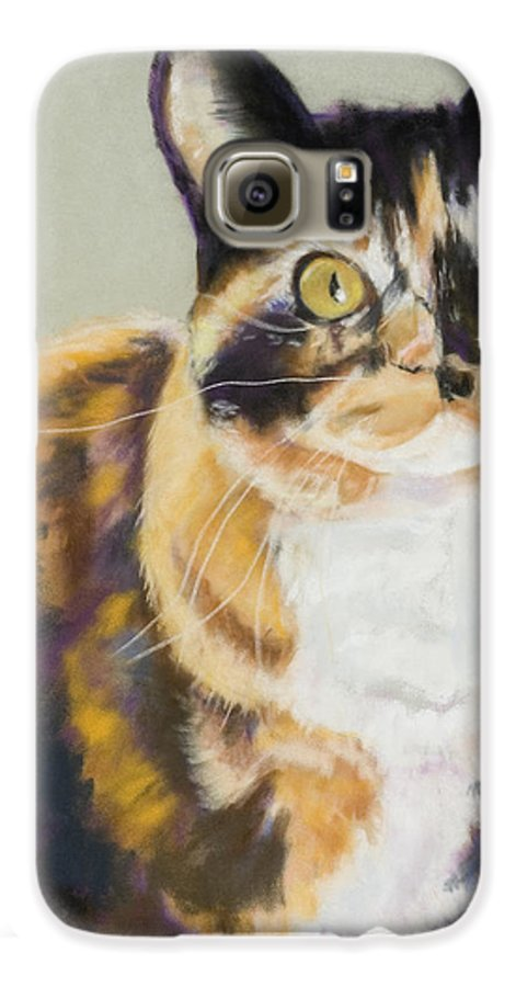 Calico Galaxy S6 Case featuring the painting Maggie Mae by Pat Saunders-White