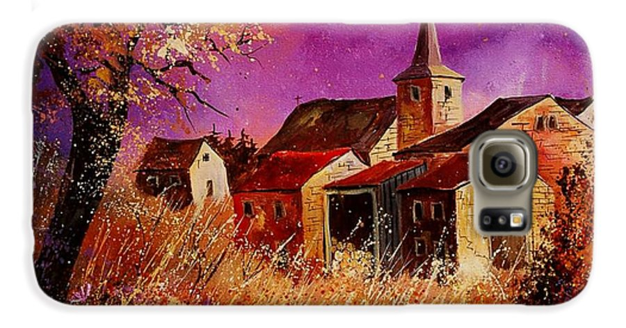 Landscape Galaxy S6 Case featuring the painting Magic Autumn by Pol Ledent