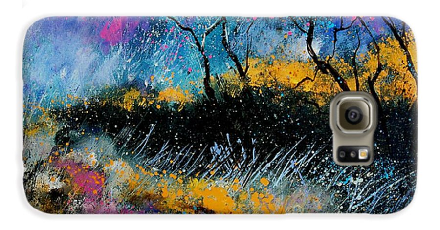 Landscape Galaxy S6 Case featuring the painting Magic Morning Light by Pol Ledent