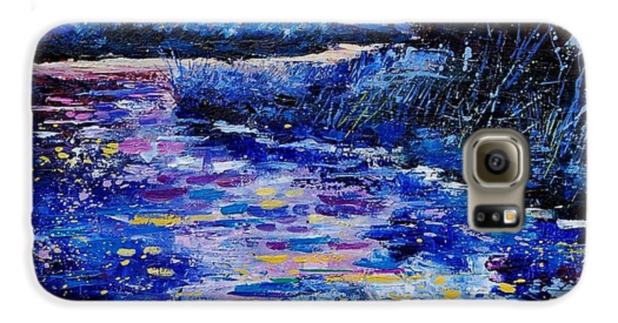 River Galaxy S6 Case featuring the painting Magic Pond by Pol Ledent