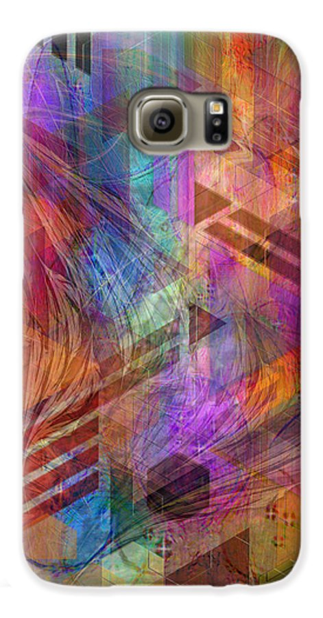 Magnetic Abstraction Galaxy S6 Case featuring the digital art Magnetic Abstraction by John Beck