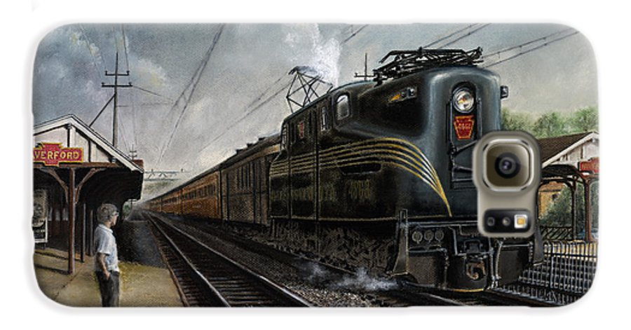 Trains Galaxy S6 Case featuring the painting Mainline Memories by David Mittner