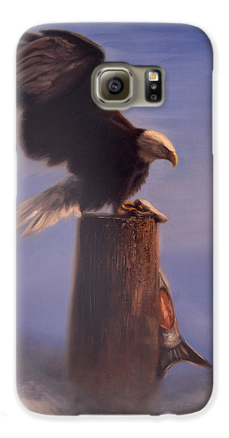 Oil Galaxy S6 Case featuring the painting Majestic by Greg Neal